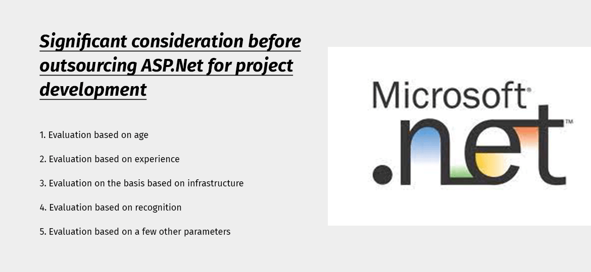 Significant consideration before outsourcing ASP.Net for project development