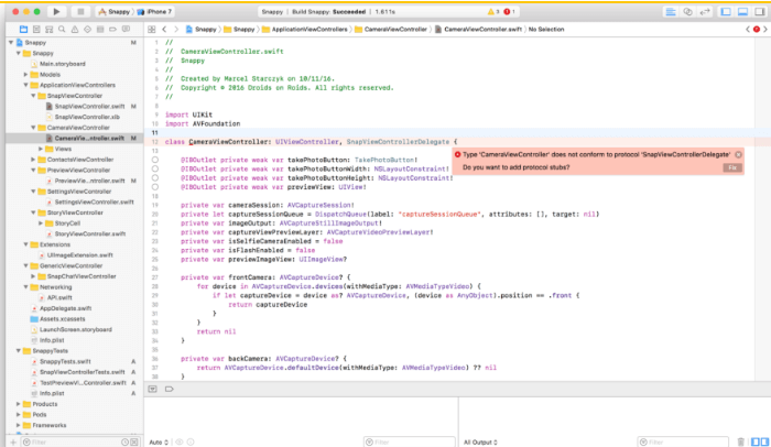 Xcode REFACTOR
