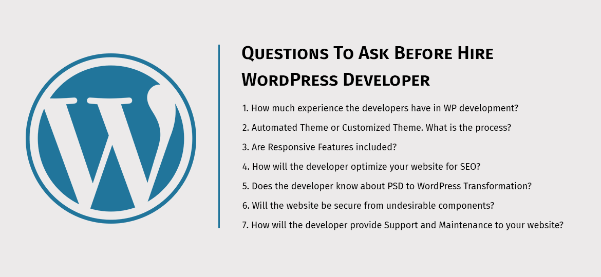 Questions To Ask Before Hire WordPress Developer