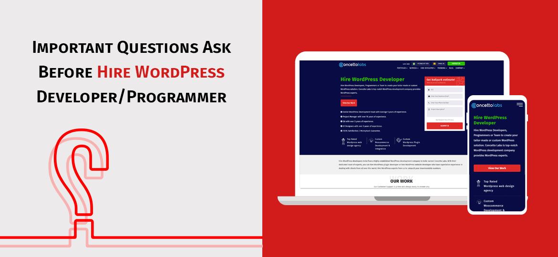Important Questions Ask Before Hire WordPress Developer/Programmer