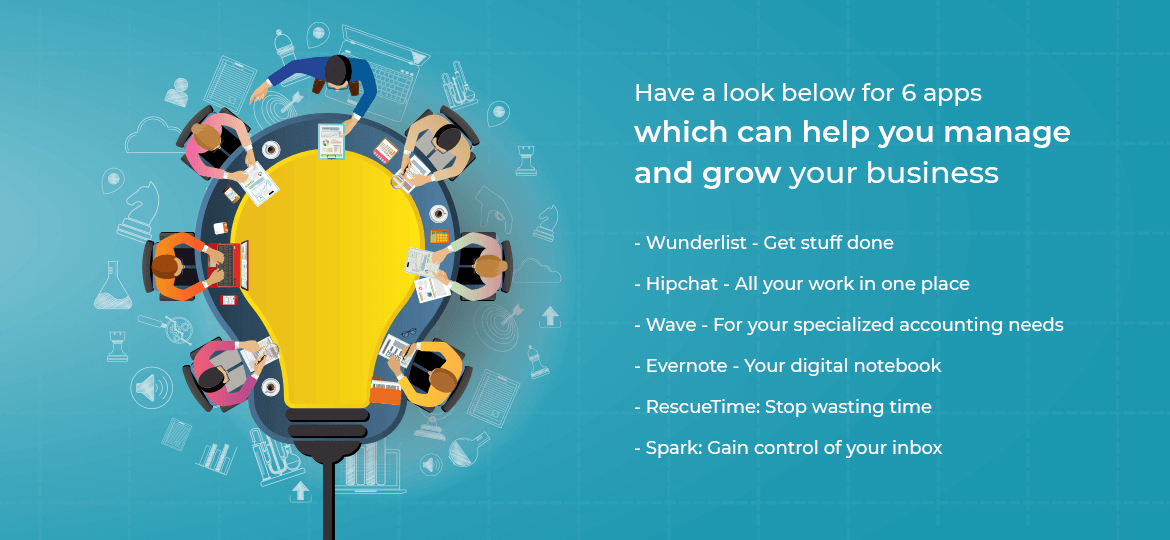 Have a look below for 6 apps which can help you manage and grow your business.