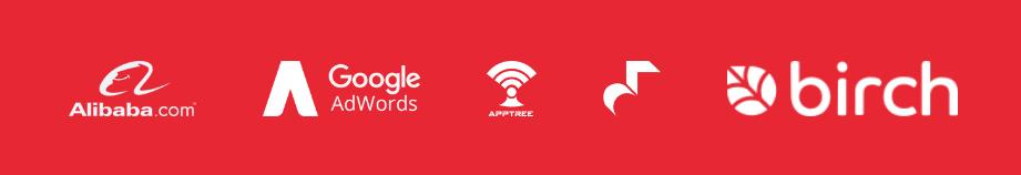 Alibaba.com, Google Ad Words, Hookle, AppTree, Birch