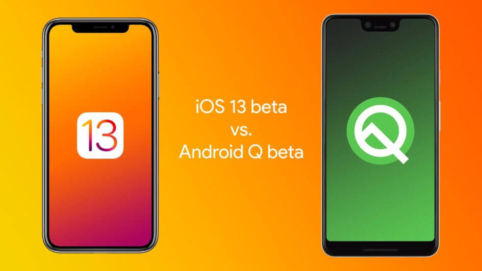 Android Q beta v/s iOS 13 beta