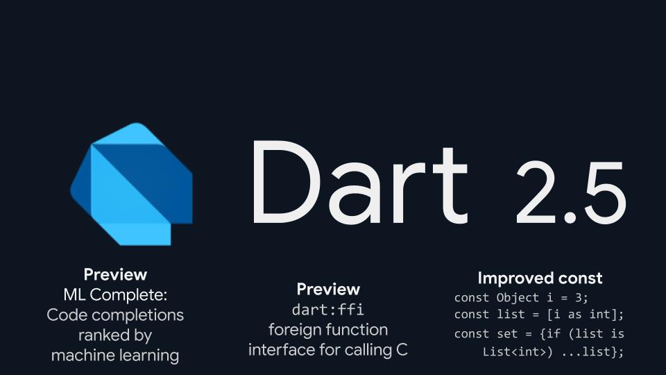 Google releases Dart 2.5