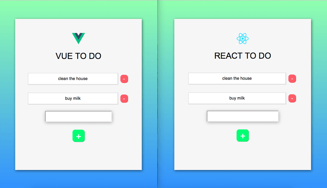 reactjs vs vue js