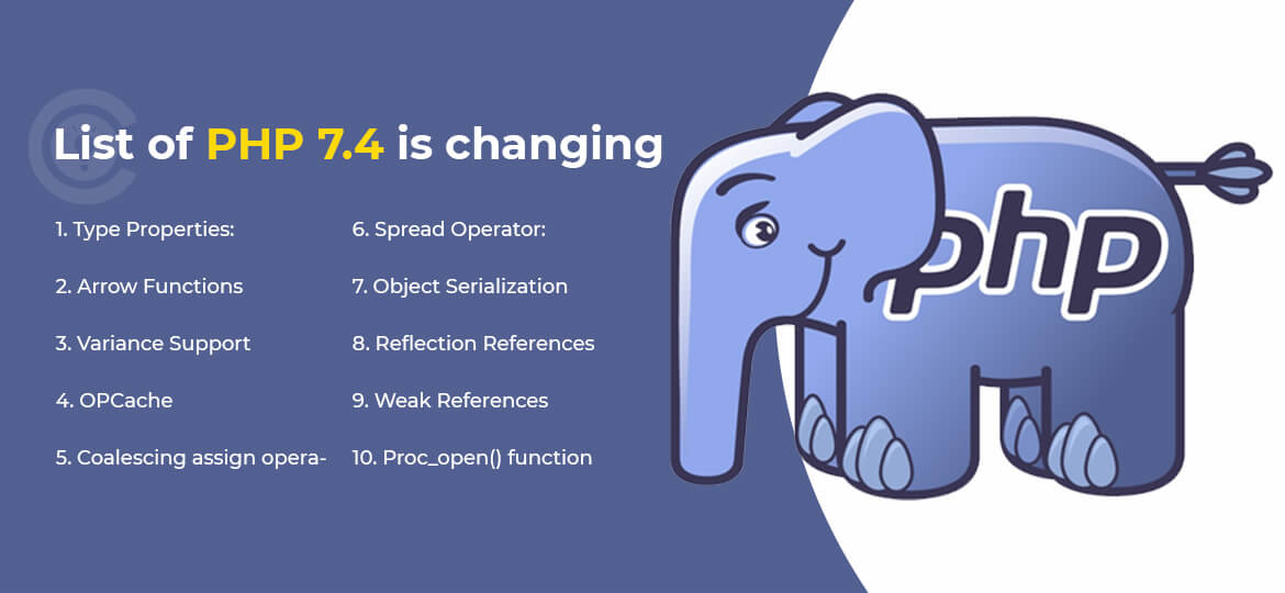 List of PHP 7.4 is changing
