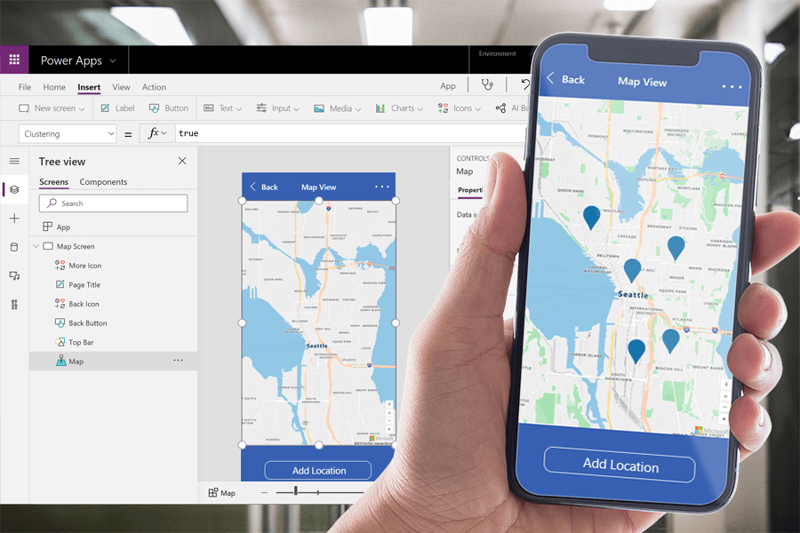 PowerApps Map View