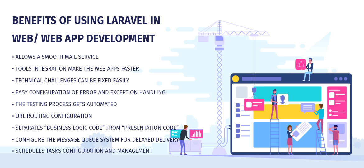Benefits of using Laravel in web/ web app development