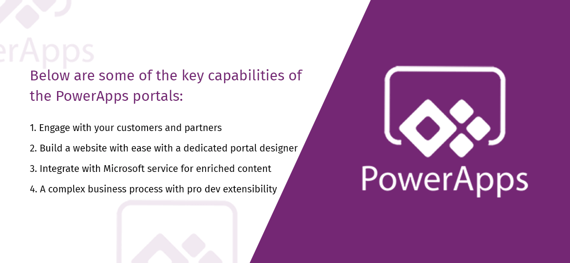 key capabilities of the PowerApps portals