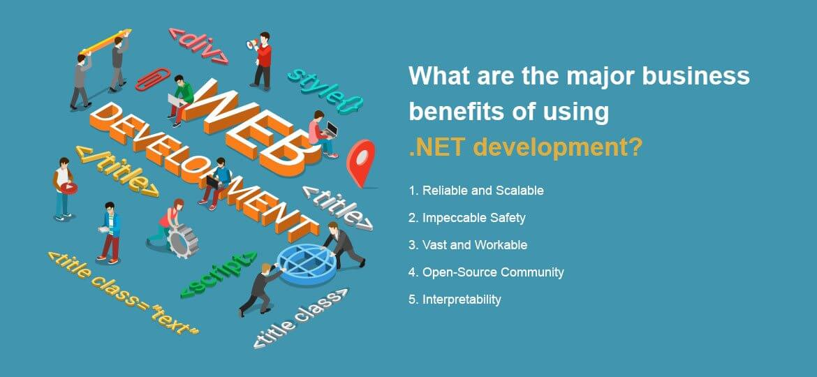 What are the major business benefits of using .NET development?