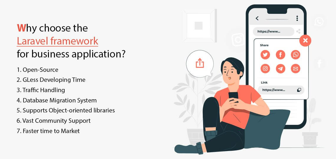 Why choose the Laravel framework for business application?