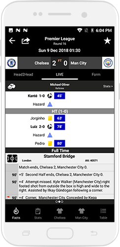 Football League Live Score App in Android
