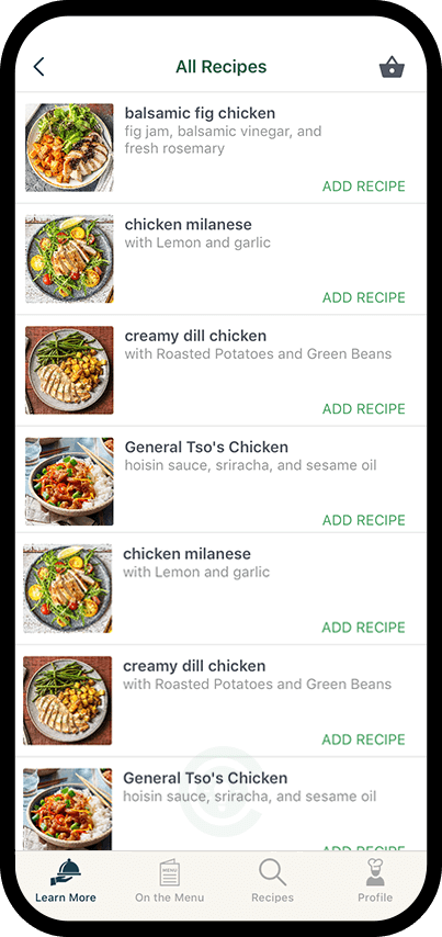 Recipes Screen