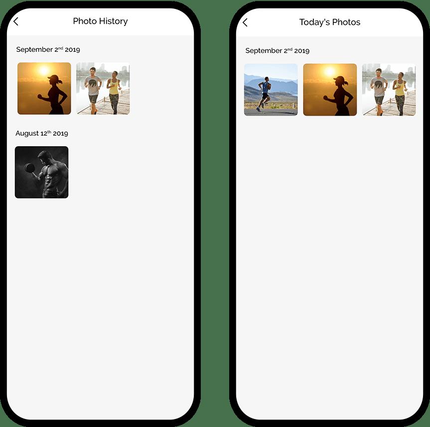 Photo History & Today's Photo Screen