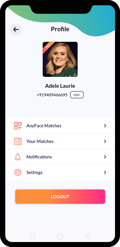 Look Alike App Screen