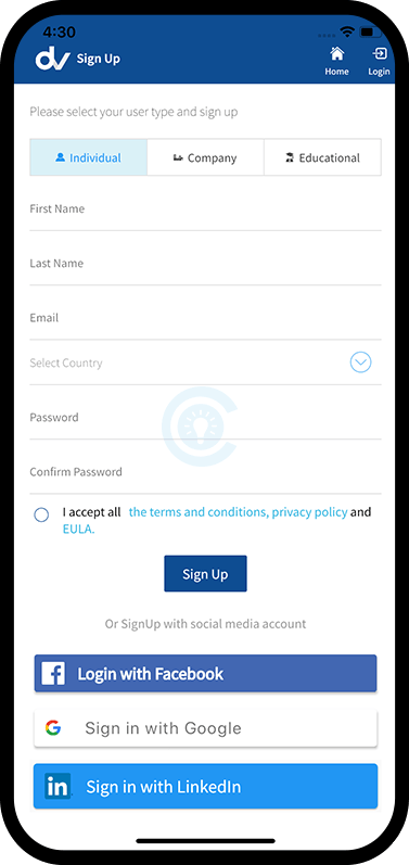 Signup Screen