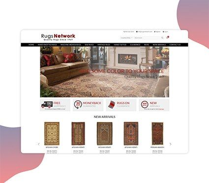 E-Commerce Website For rugs & carpets