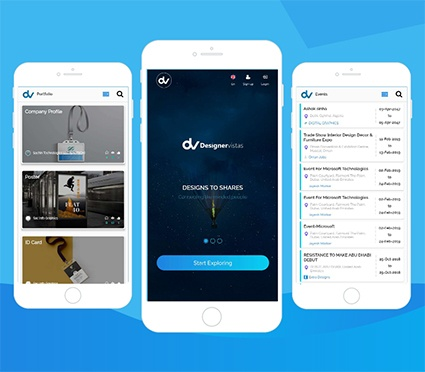 Social Media App for Designers or Freelancers or Insitituations