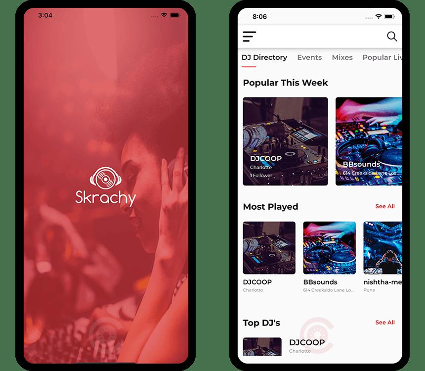 LIVE DJ Concerts App Development
