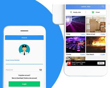 Freelancer kind app for Security Guards