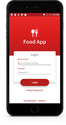 Online food ordering app for restaurant