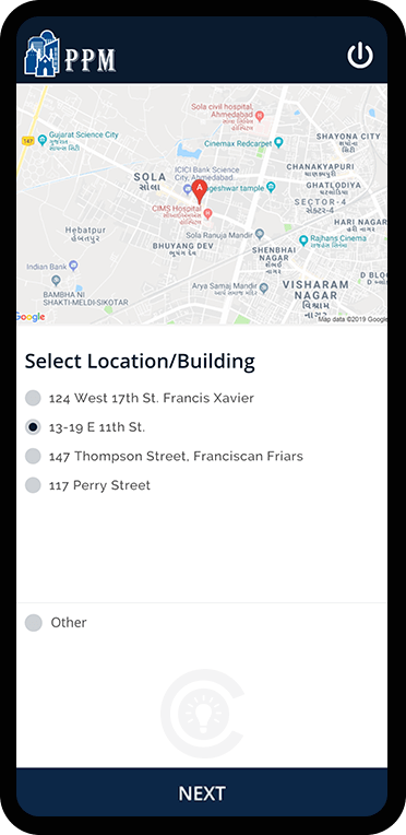 Location Screen