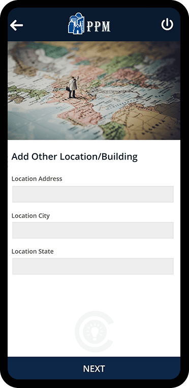 Add Location Screen