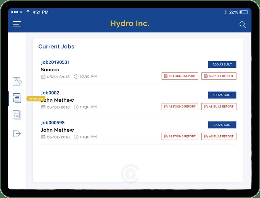 Job Listing Screen