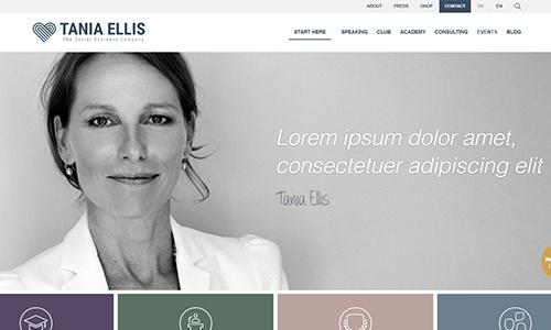 Custom Wordpress Website for a Renowned Speaker