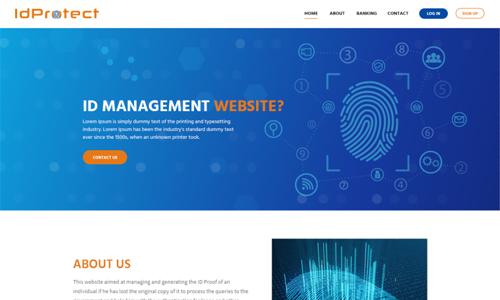 ID Management Website